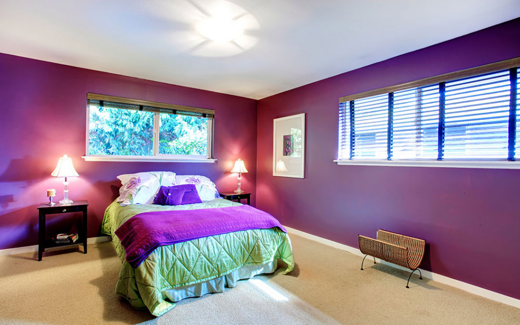 Purple-colour-bedroom-walls