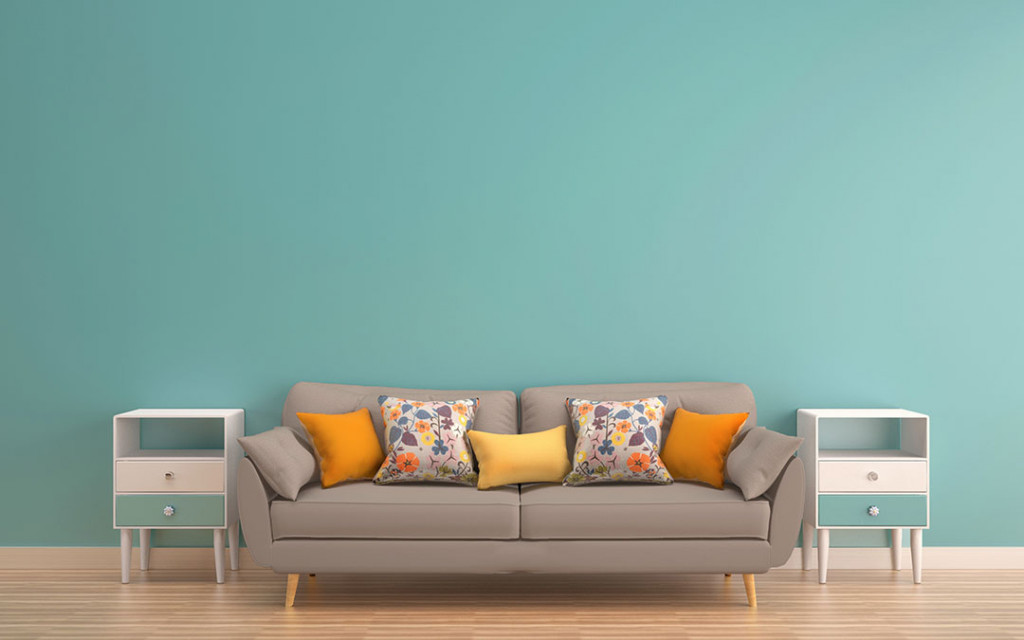 a-sofa-in-a-living-room-painted-with-baby-blue -and-brown-colour-sofa