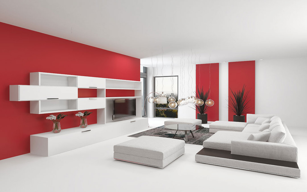 red-wall-paint-colour-for-living-hall