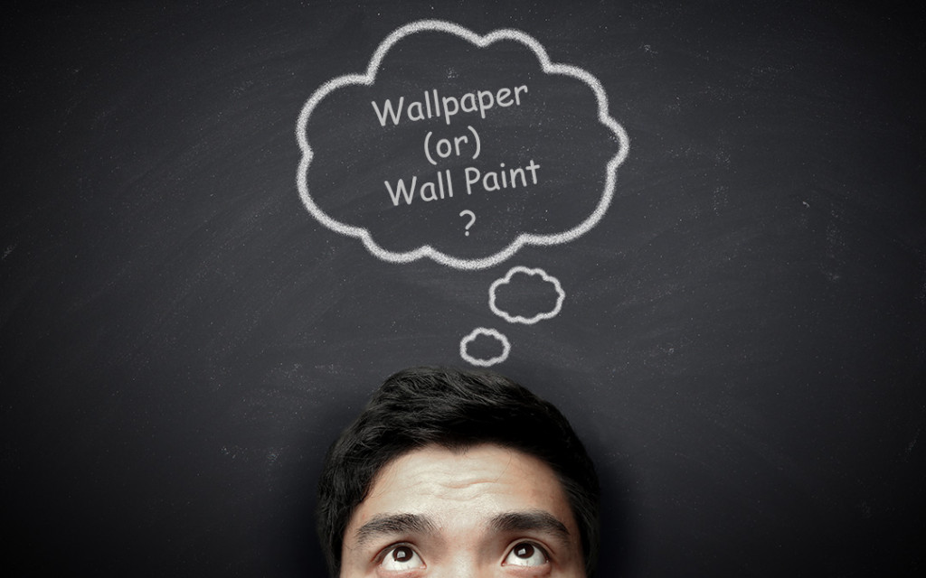 A-man-thinking-about-either-we-will-go-wallpaper-or-wallpaint-for-home-interior