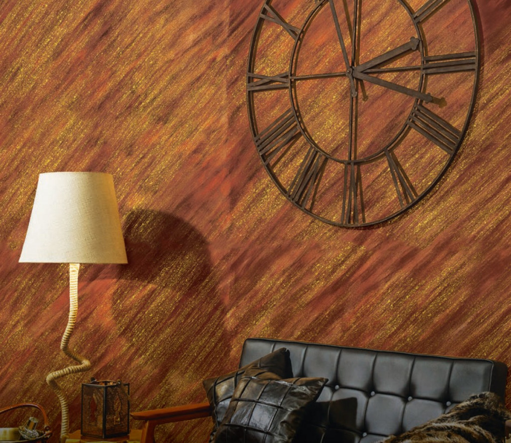 LIving-room-brown-color-wall-texture-designs