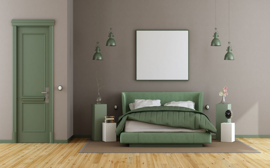 Light-brown-and Muted-Green-paint-colour-combinations-for-bedroom