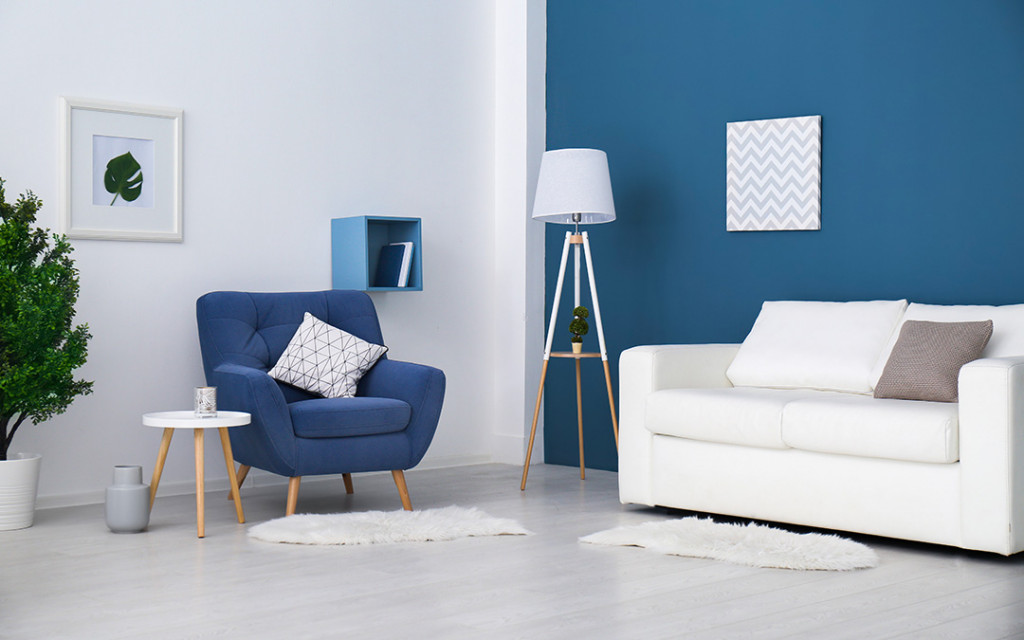 Living-room-painted-with-accent-blue-colour