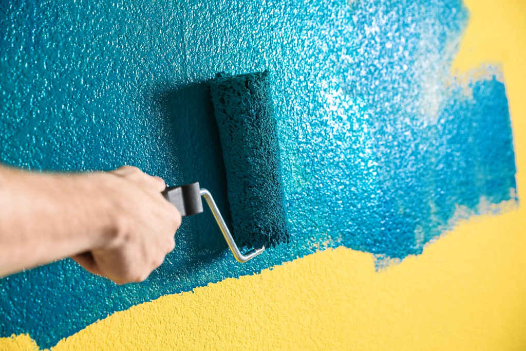 wall texture painting for home